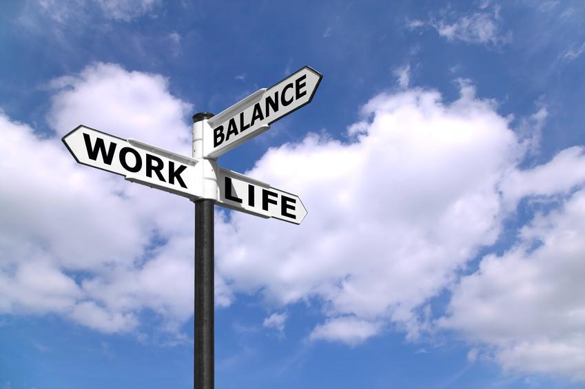 Work Life Balance Schild